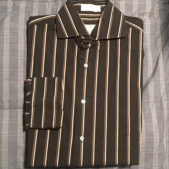 Eight eight 100% Cotton Black Dress Shirt - S